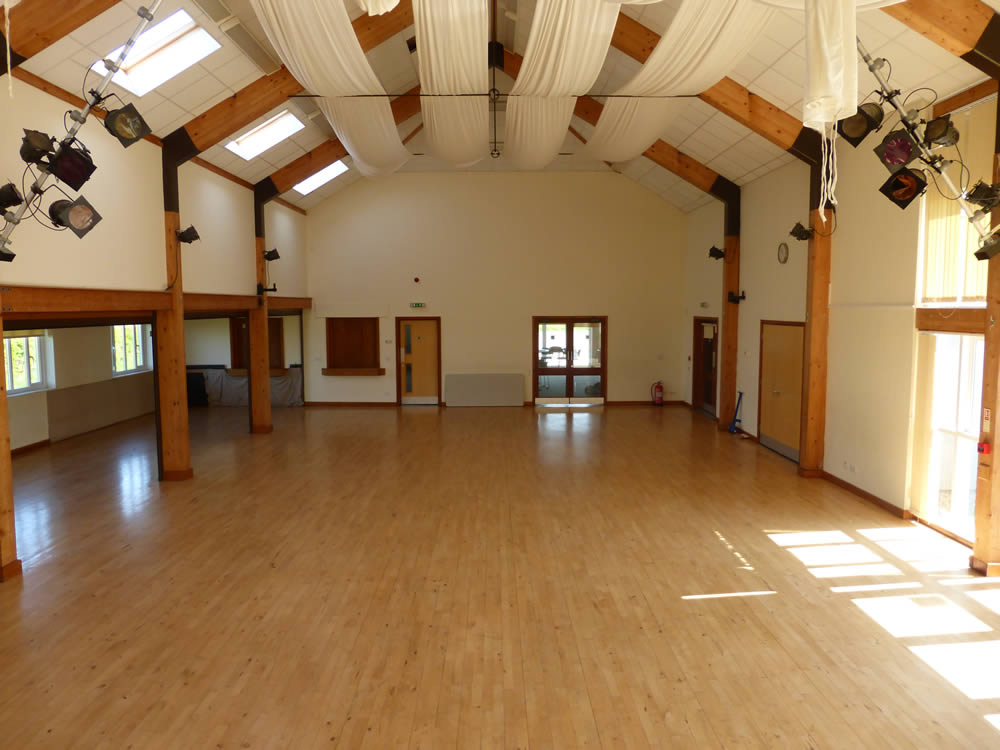 Main hall from staging