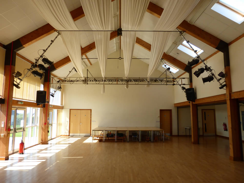 Moveable staging in the Main hall